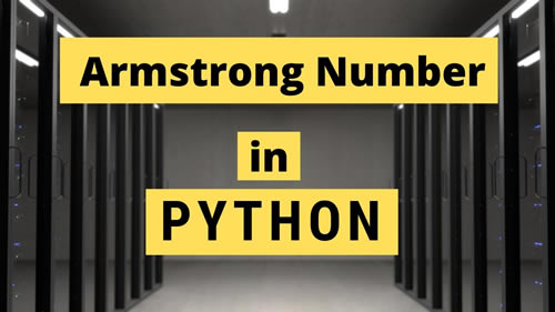 Armstrong-Number-in-python