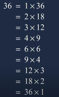 factor of 36
