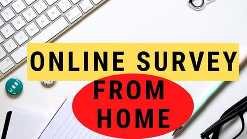 Online survey from home